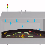 ecosafe digester turns food waste into grey water