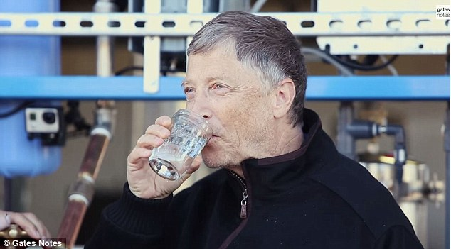 bill gates drinking water extracted from sewage