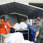 prisoners sorting recyclables
