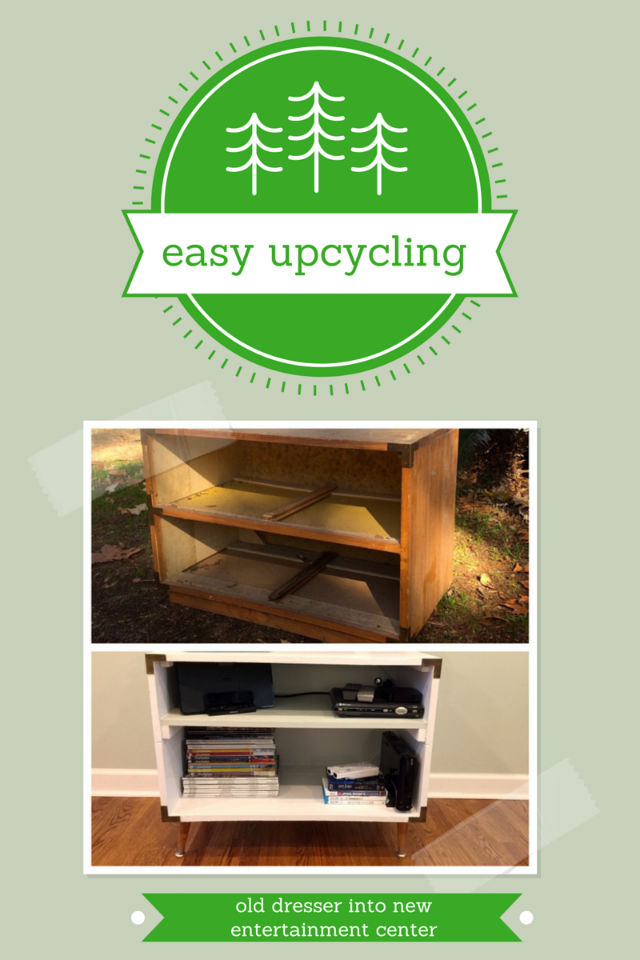 turn an old dresser into a new entertainment center