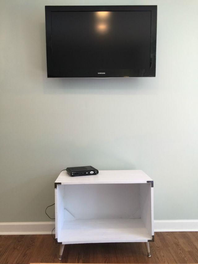 dresser box painted white