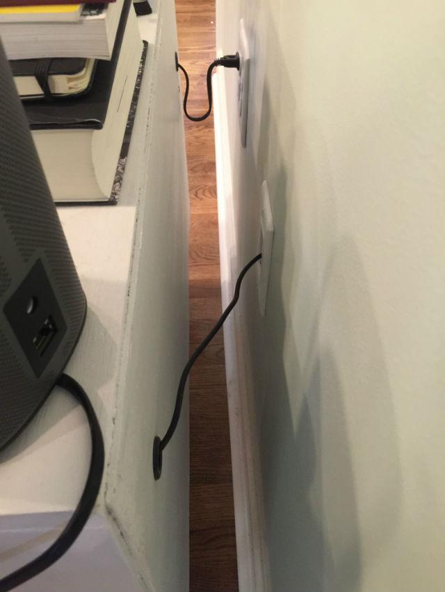 entertainment center cable management