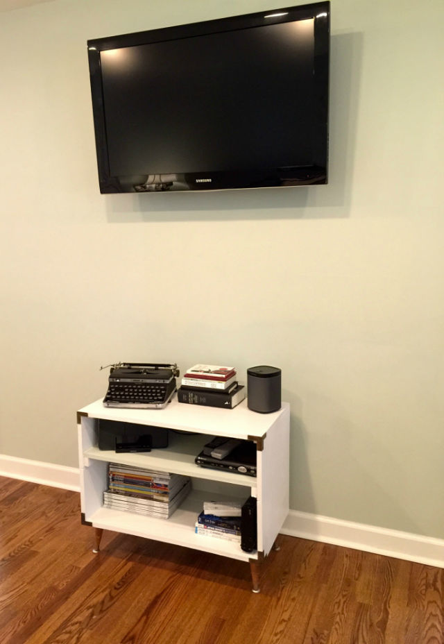finished entertainment center