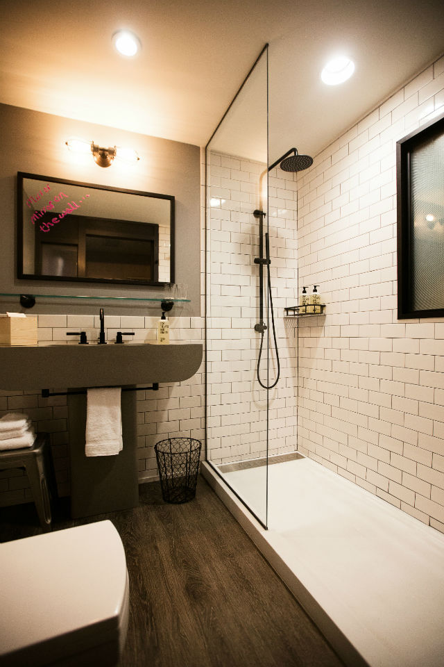 Shipping containers on display with new marriott hotels - Shipping container public bathroom ...