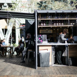 open air shipping container bar