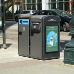 bigbelly smart commercial trash cans