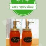 glass jars into kitchen accessories