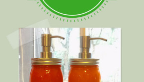 glass jars into kitchen accessories