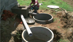 toilet waste water treatment keep clean drinking water available in rural india