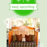 easy upcycling turning a crib into a porch swing