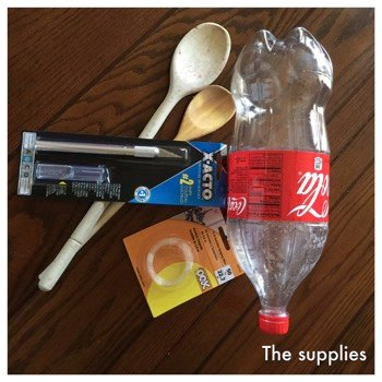 materials for making a soda bottle bird feeder
