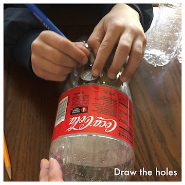 draw the holes