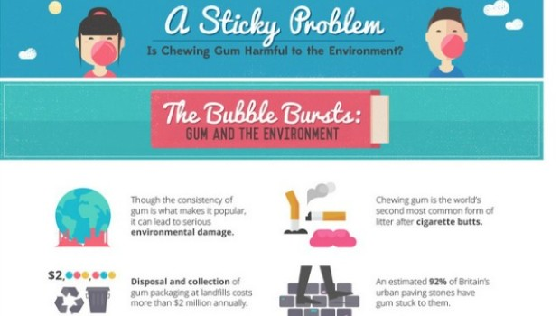 chewing gum infographic selection