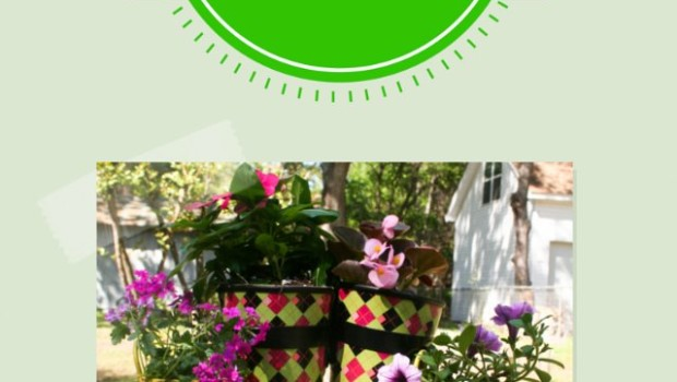 homemade planters from rain boots