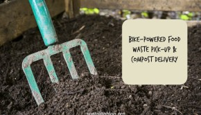 bike powered food waste collection and compost delivery