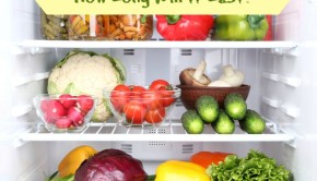 fresh food in refrigerator