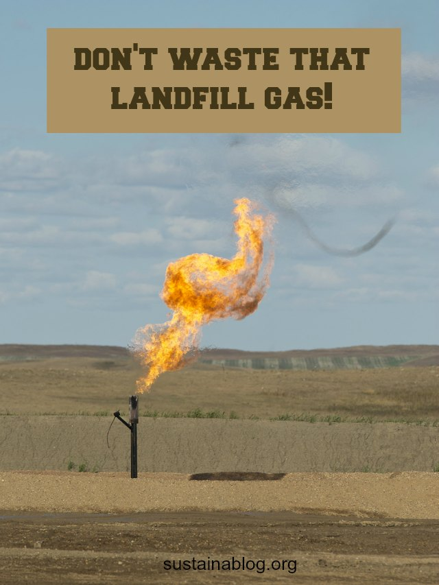 methane gas flaring at a landfill