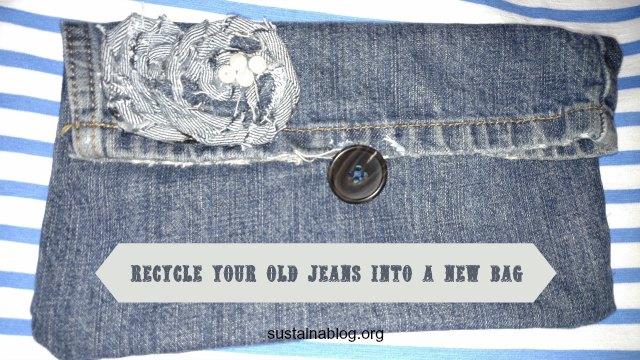 recycle jeans into a handbag