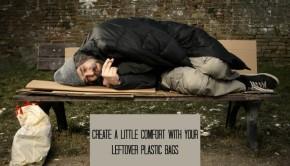 create a little comfort with a plarn sleeping mat