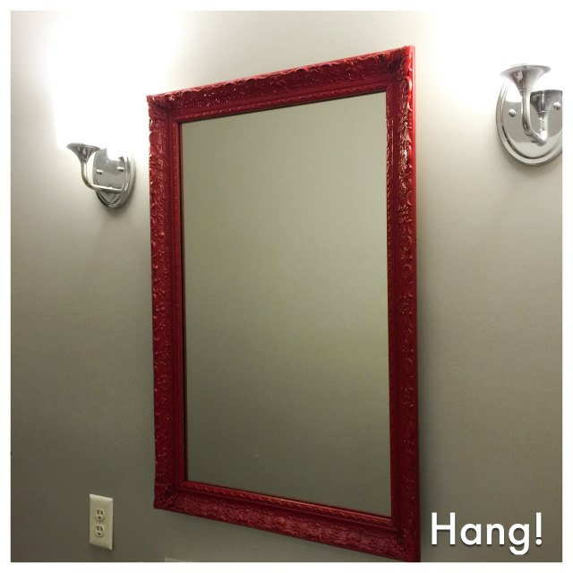 upcycling how to update a mirror and frame with a can of spray paint. Black Bedroom Furniture Sets. Home Design Ideas