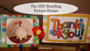 diy picture frame made from a cardboard box