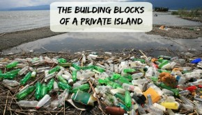 recycle plastic bottles into a private island