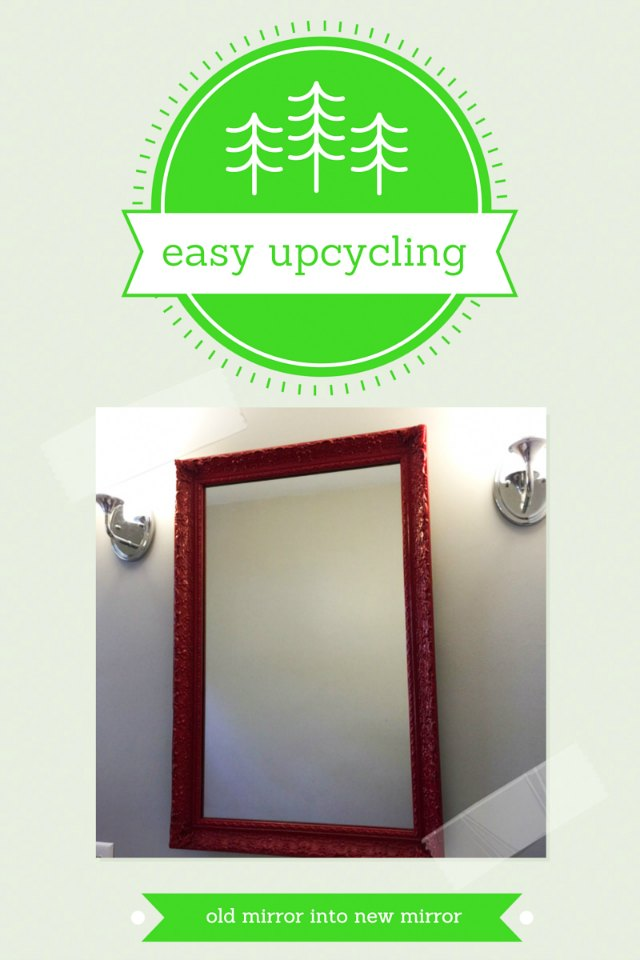 upcycling a mirror and frame. Black Bedroom Furniture Sets. Home Design Ideas