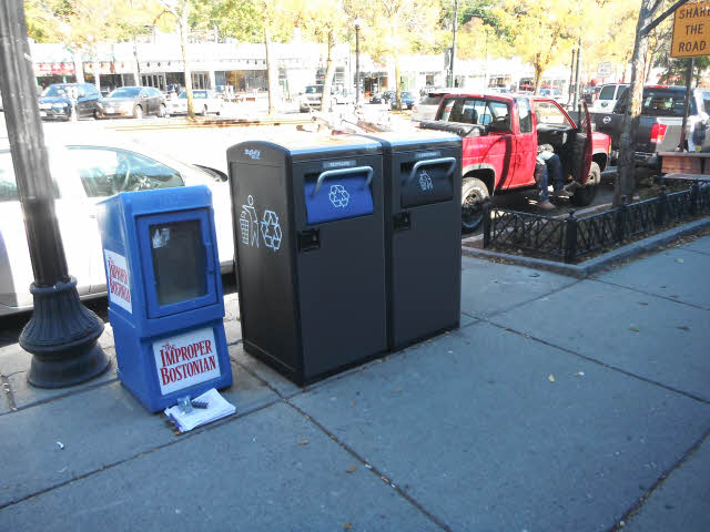 bigbelly trash cans in brookline massachusetts