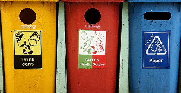 colorful recycling bins for responsible waste disposal