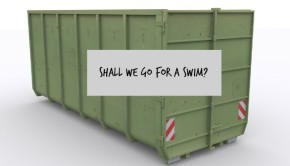 dumpster for a swimming pool