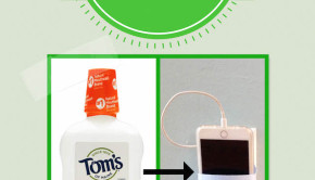 turn a plastic bottle into a cellphone charging cradle