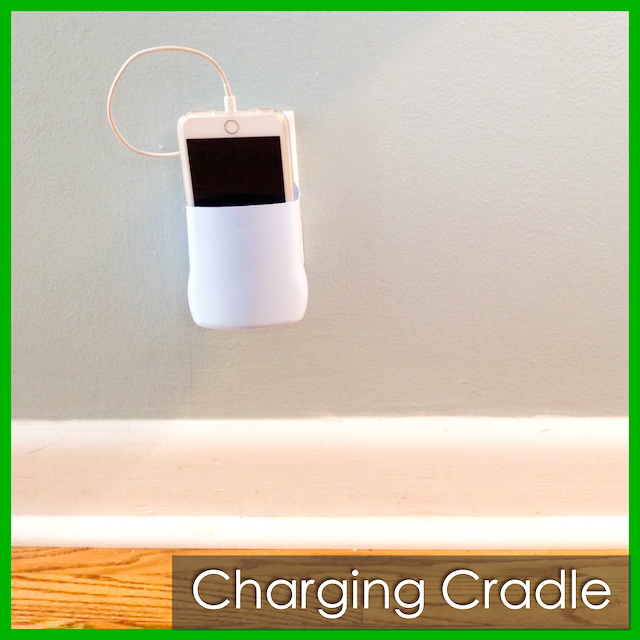 charging cradle in use