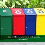 recycling bins for separate materials
