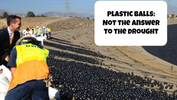 creating plastic waste with shade balls