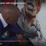 recycle plastic into art