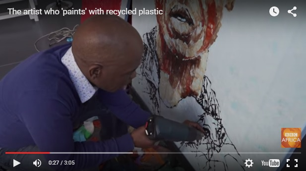 recycle plastic into art