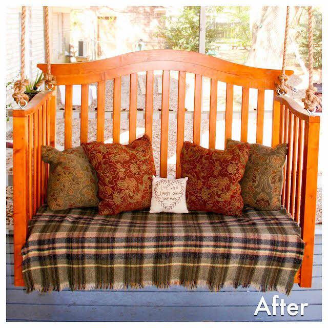 porch swing from crib