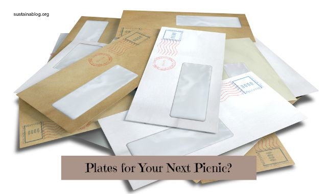 junk mail for paper plates