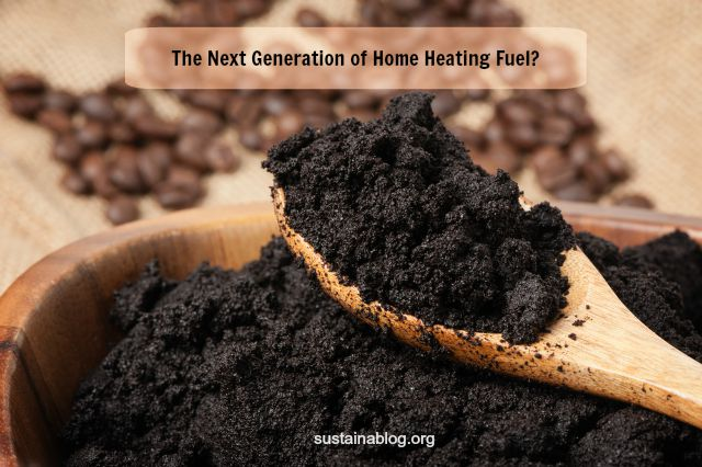 used coffee grounds for home heating fuel?