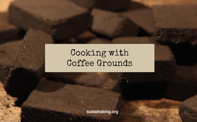 charcoal briquettes made from coffee grounds