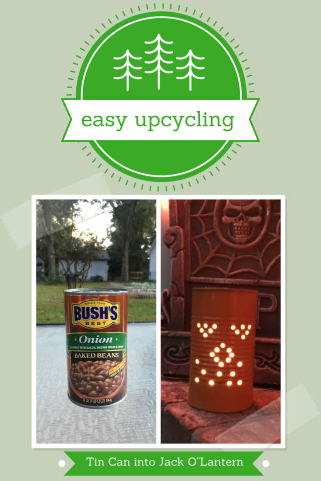 Easy Upcycling: Turn a Tin Can into a Jack O' Lantern