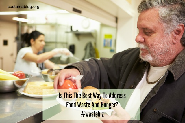 do food donations best address waste and hunger?