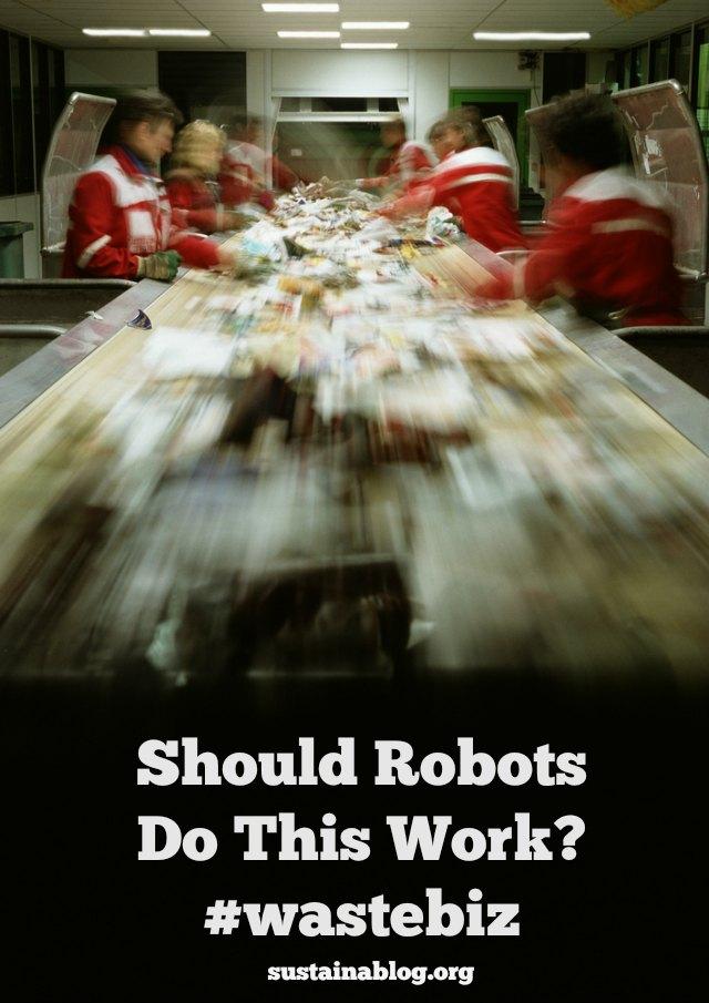 waste sorting workers
