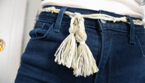 finished string belt