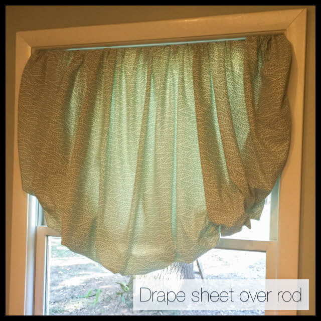 drape sheet over rod