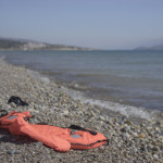 life jacket from refugees arriving in greece