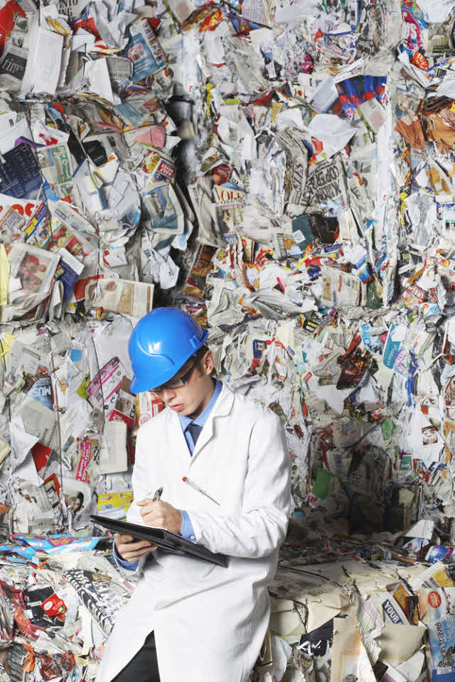 recycling worker