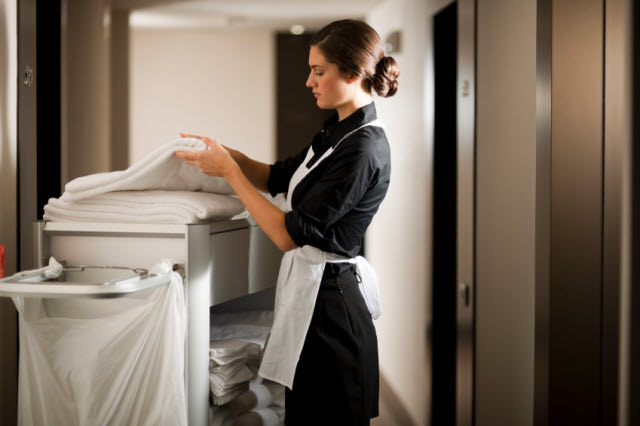 maid at work in hotel