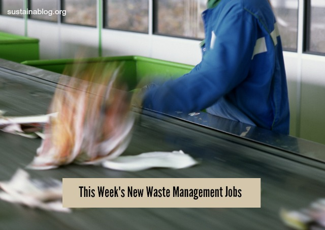 this week's waste management jobs