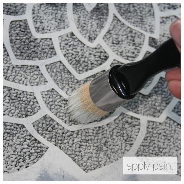 paint with stencil